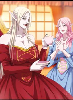 Ellena e sua dama de companhia Mirajina