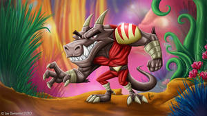 Angry Dino Paints by JoeCostantini