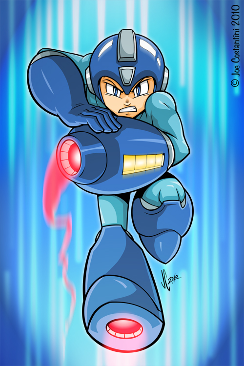 Mega Man Rocks by JoeCostantini
