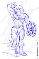He-Man Sketch by JoeCostantini