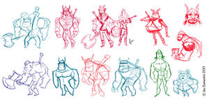 Viking Thumbnails by JoeCostantini