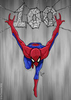 100th Spidey Sketch! by JoeCostantini