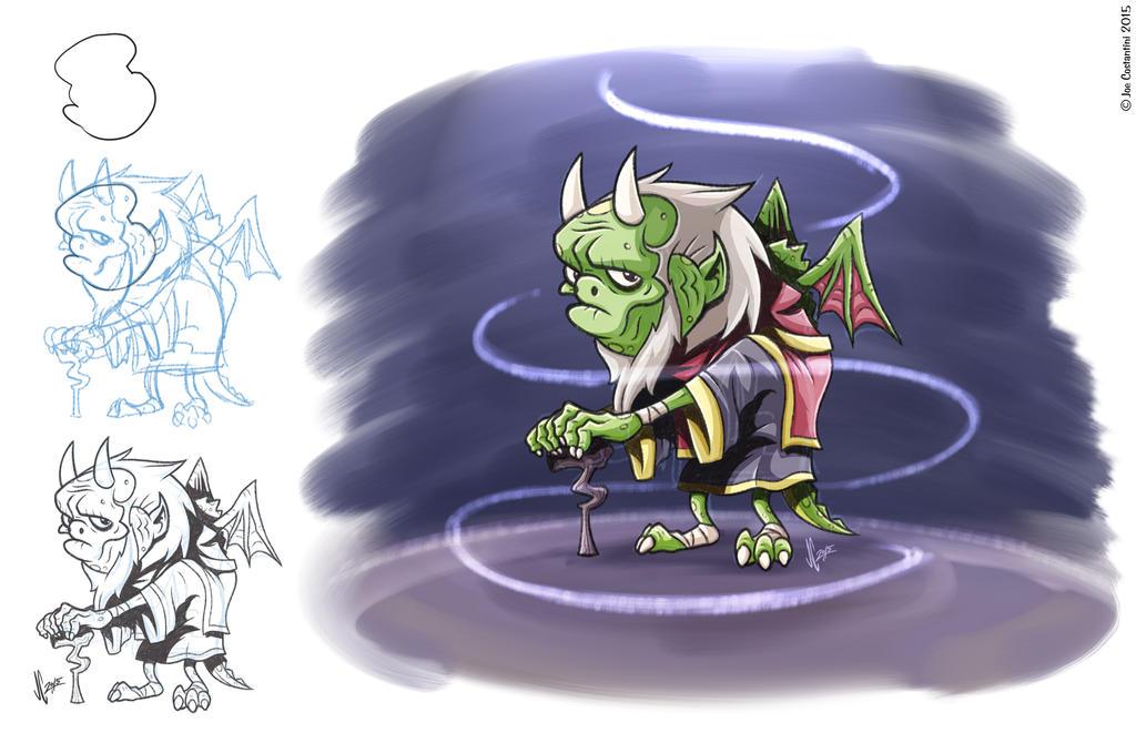 Lizardy Wizard by 2Ajoe
