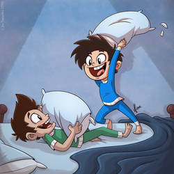 Pillow Fight by JoeCostantini