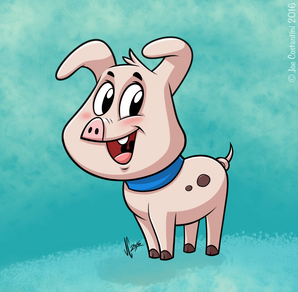 Cartoon Piggy 2 by JoeCostantini