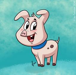 Cartoon Piggy 2 by JoeCostantini