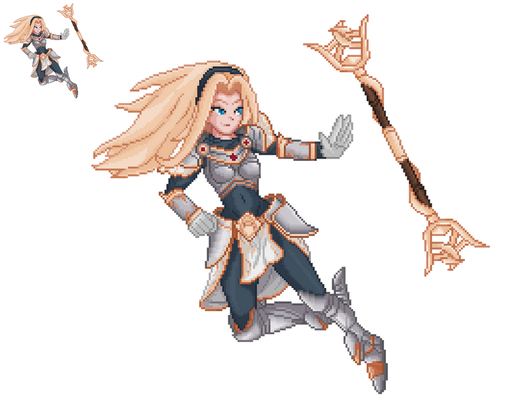 Lux The Lady of Luminosity LoL Sprite by Kayspriter