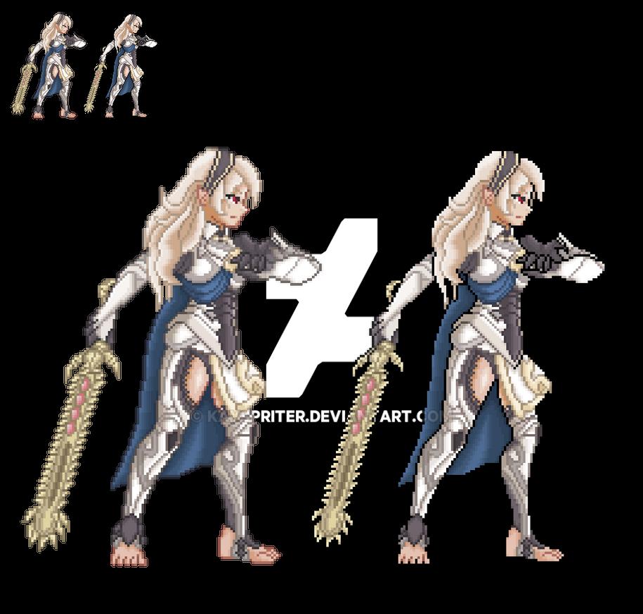 Fire emblem fates/ssb4 Female Corrin by Kayspriter