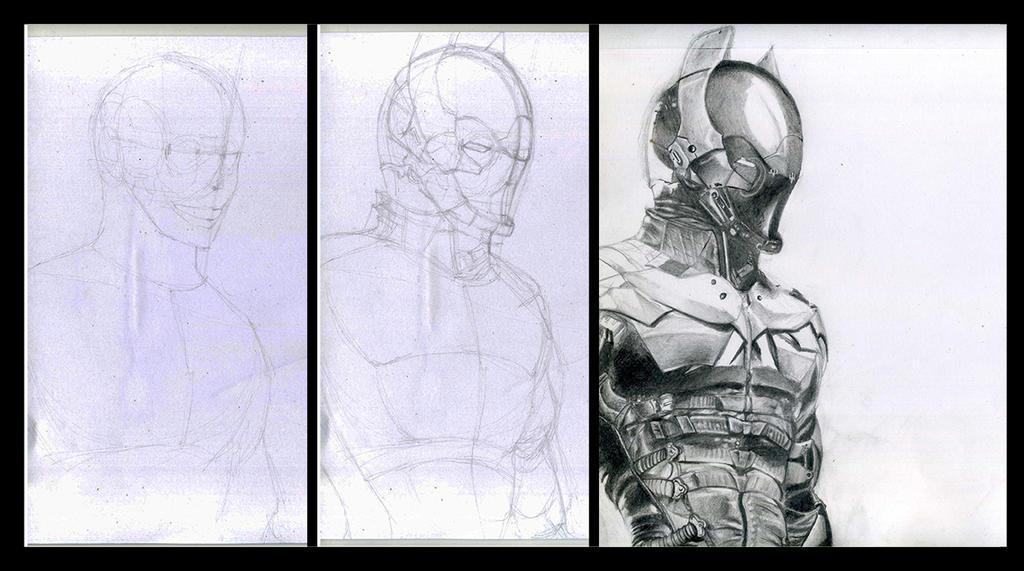 Batman arkham knight WIP by Phoenixtsubasa