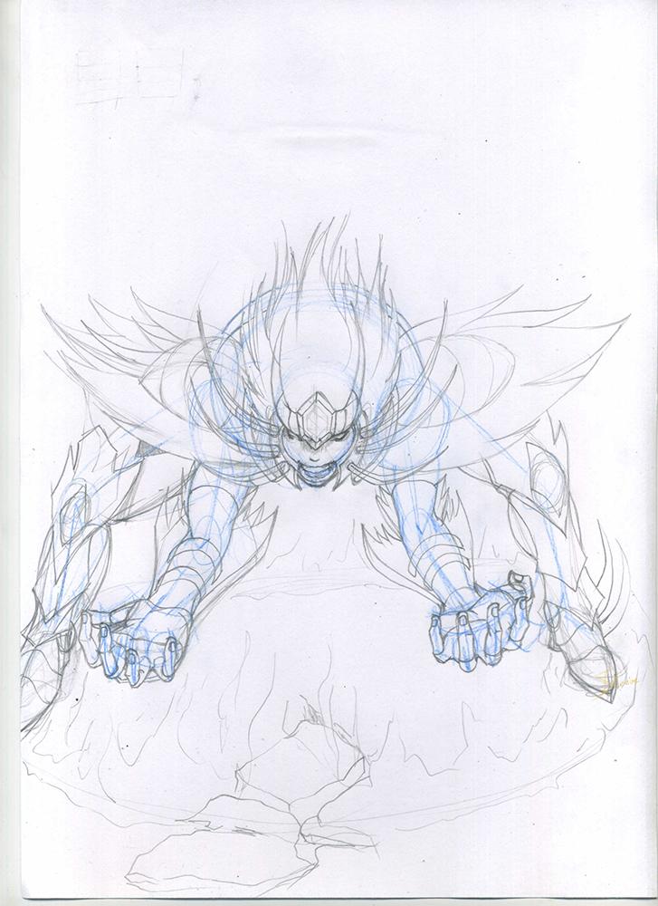 Rage of Deathmask (Sketch) by Phoenixtsubasa