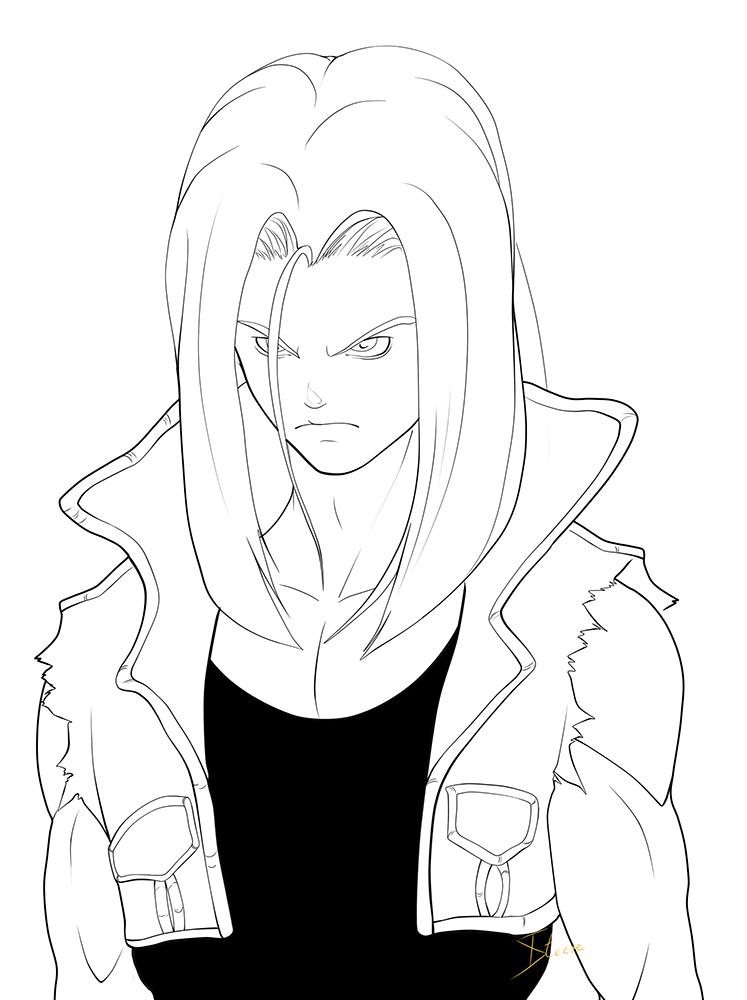 My favorite Trunks Lineart by Phoenixtsubasa