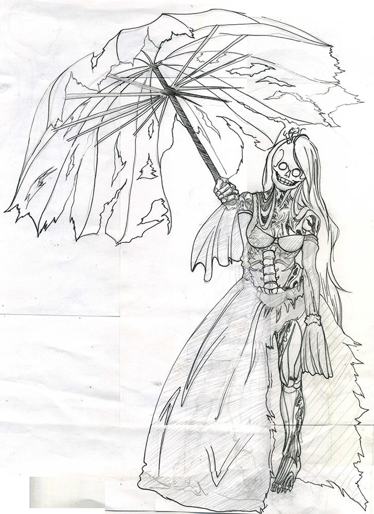 Sketch Lady Halloween by Phoenixtsubasa
