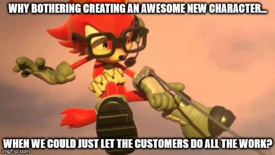 The issues of the custom character in Sonic Forces by AdventurousAdvocate