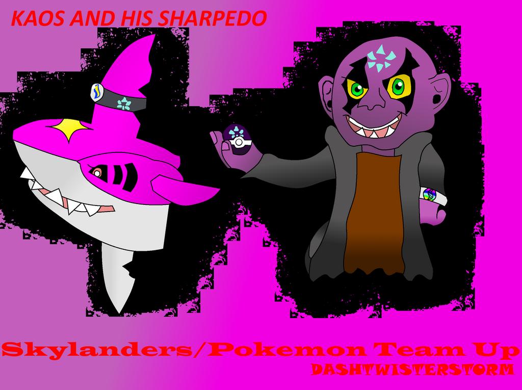 Traptanium Kaos and his Shiny Sharpedo! by DashTwisterstorm