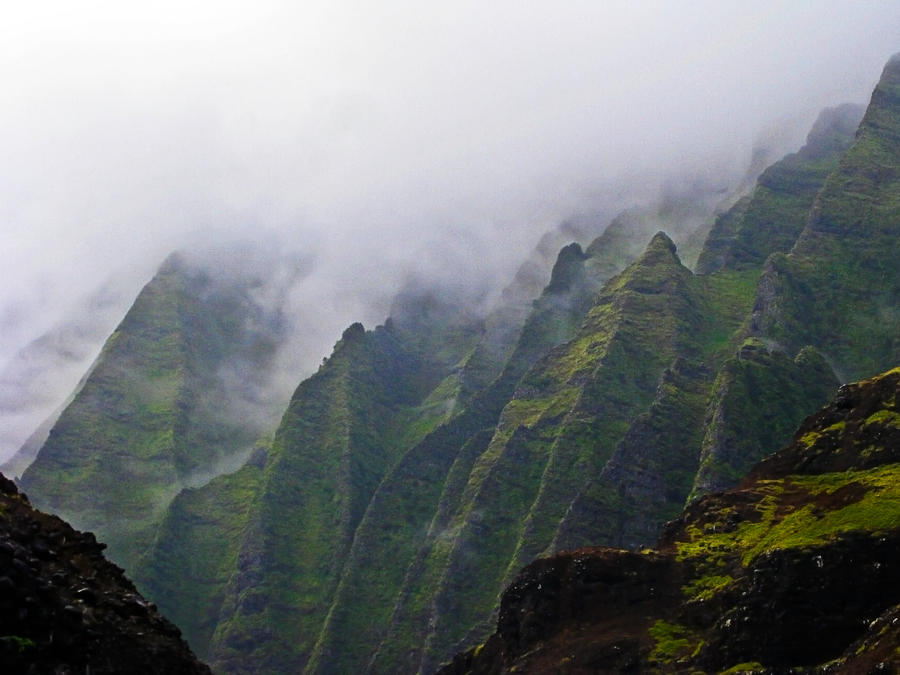 Misty Morning, Na Pali Coast 3 by Utukki-Girl