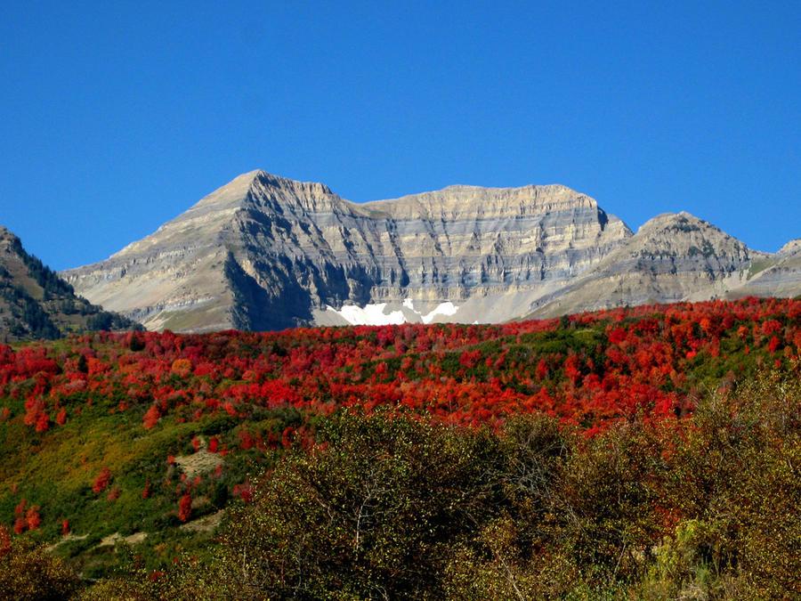 Mount Timpanogos in Autumn by Utukki-Girl