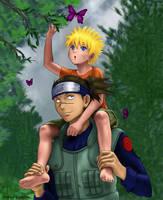 Orphans - Naruto and Iruka by Utukki-Girl