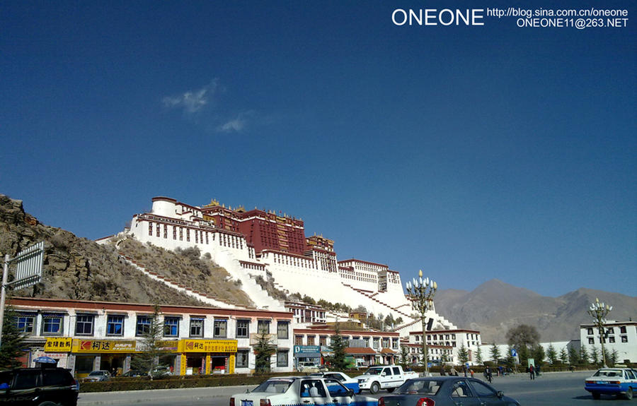 Potala Palace, under clear sky by oneone11