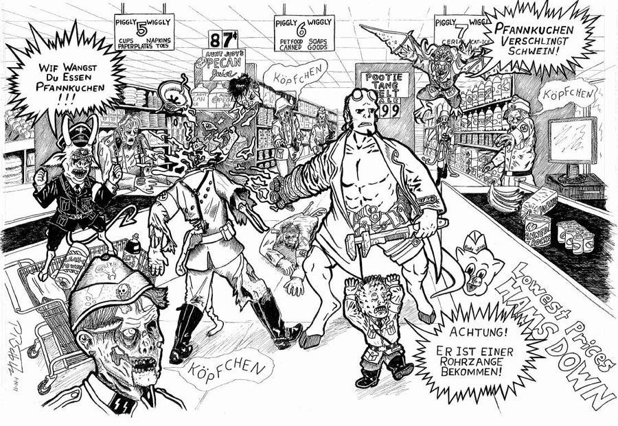 Hellboy Vs Nazi Zombies by PR-Scholtz