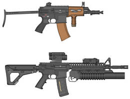 (2 of 2) Gunner's Special: KA-74U and AR4-G by RoloSoloPoloHolo