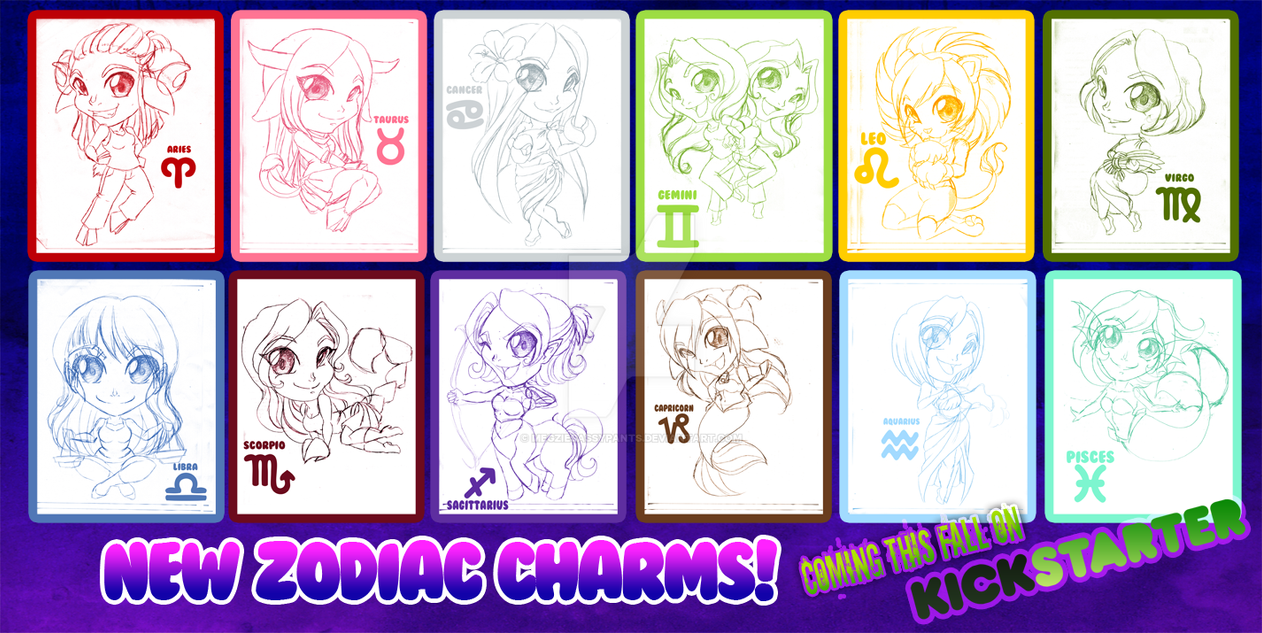 Coming Soon!! NEW Zodiac Charms!! ON KICKSTARTER!! by ToxicStarStudio