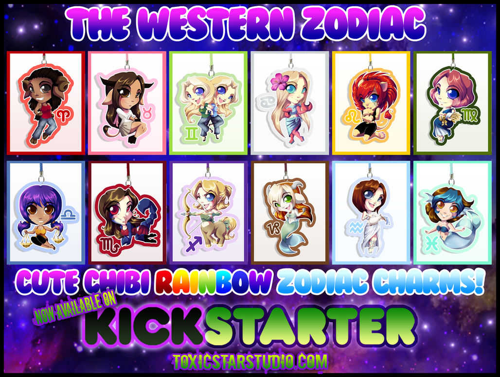 NOW LIVE ON KICKSTARTER!!! The New Zodiac!! by ToxicStarStudio