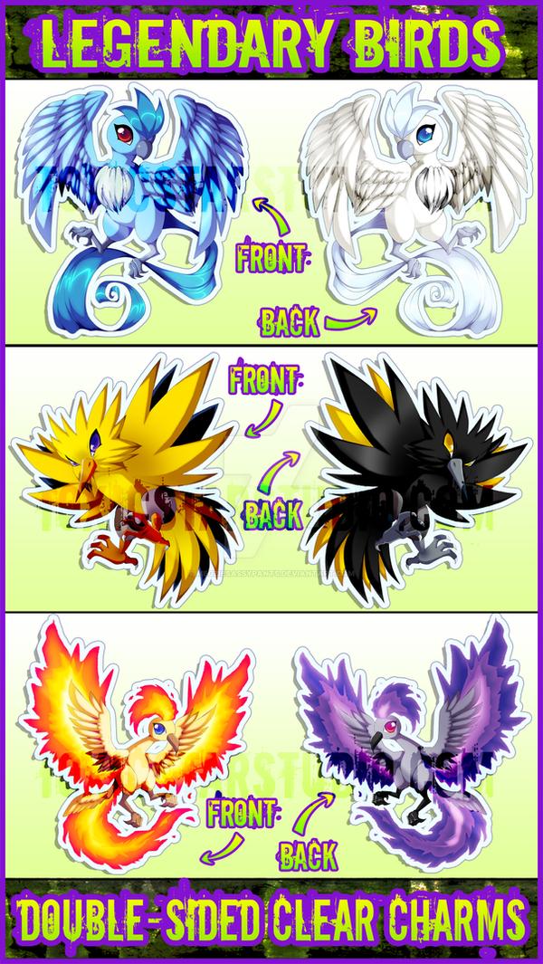 NEW Legendary Bird Pokemon Charms!! by ToxicStarStudio