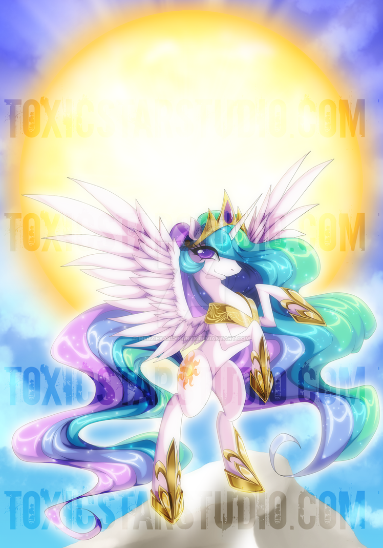 Goddess of Light .:. Princess Celestia by ToxicStarStudio