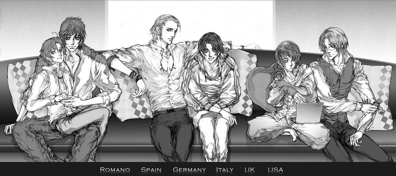[APH]Romano, Spain, Germany, Italy, UK, USA by TrixSr