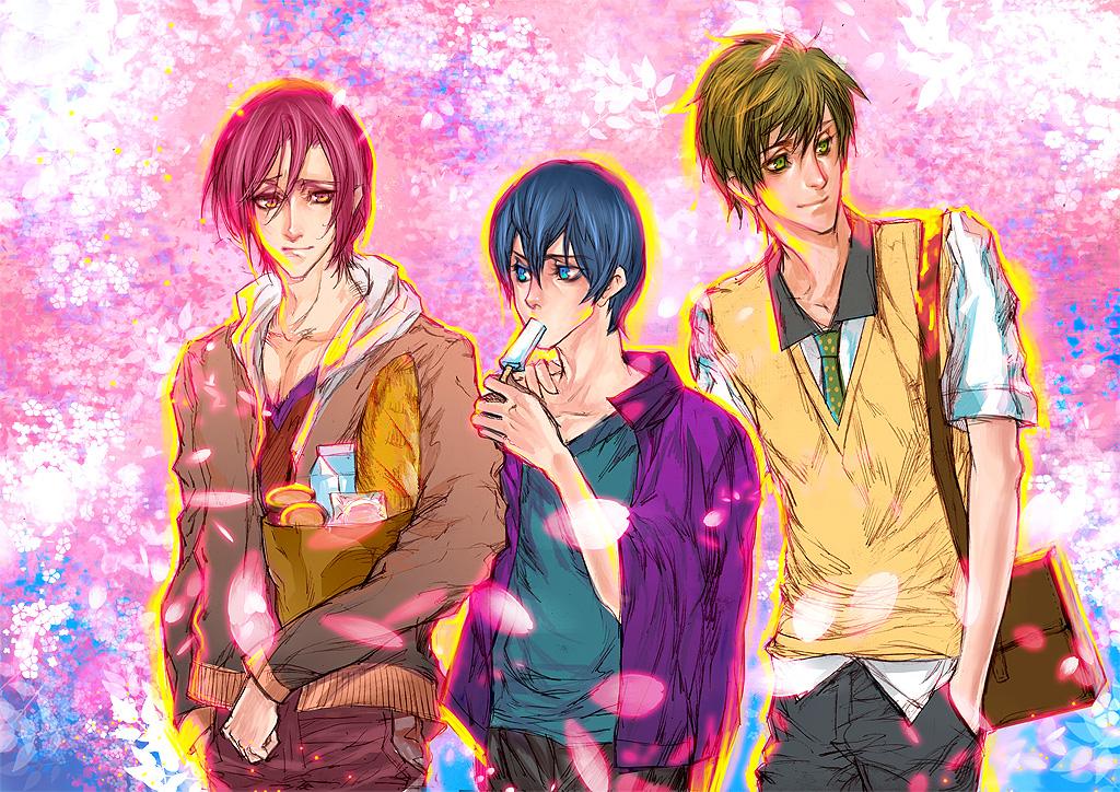 [ Free! ] Rin, Haruka and Makoto by TrixSr