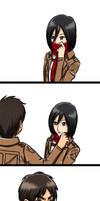 Attack on Mikasa by Samio-Ana
