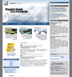 Quad Magazine website
