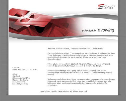 SAG Solution Website