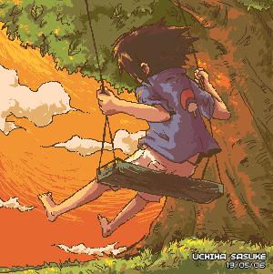 Sasuke_on_a_Swing_by_jingster