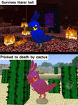 [PDP/MC] survives hell, flies into cactus by tuxdemonz