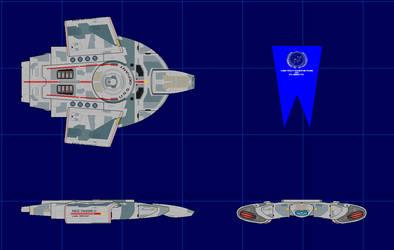 Defiant Class Destroyer by ScifiGeek1991