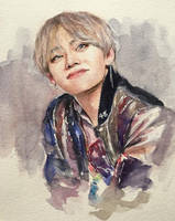 Taehyung - watercolour fanart by for-infinity