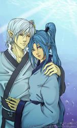 Haku and Sai by Ahvia