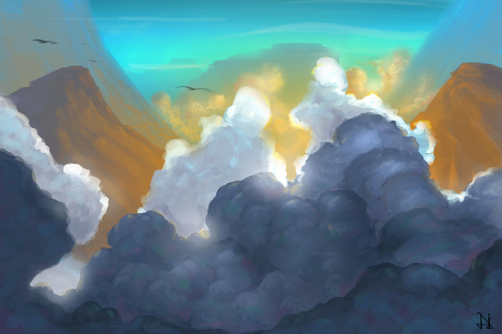Beyond the clouds by riddleman
