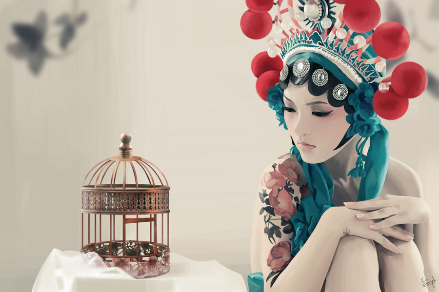 Caged Bird by shalinisingh02