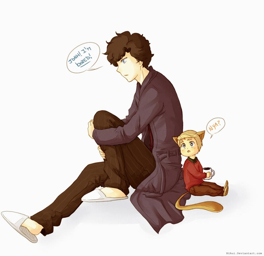 Sherlock and kitty Watson by Nihui