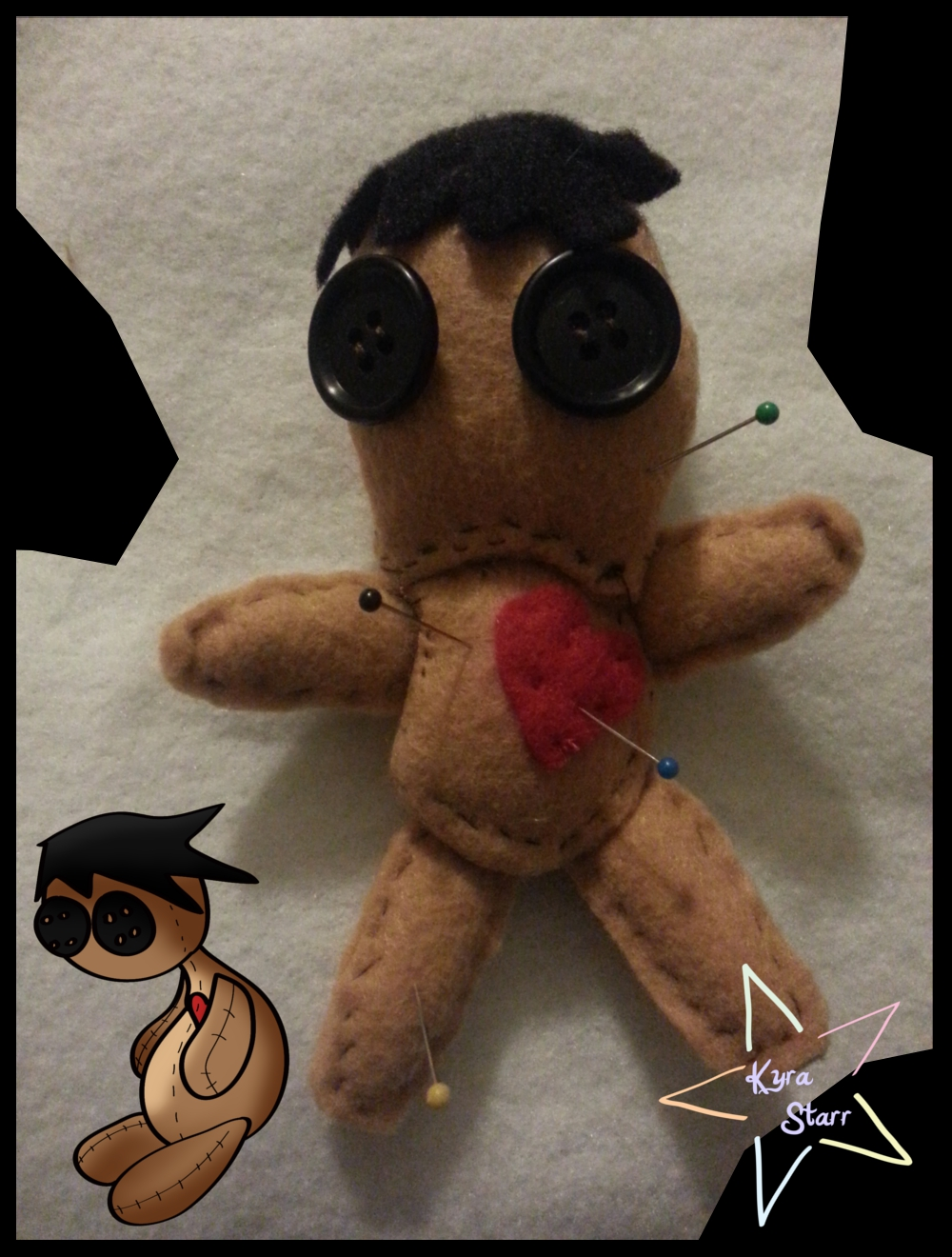 Voodoo Doll Pincushion (With Adoptable!) by KyraStarr