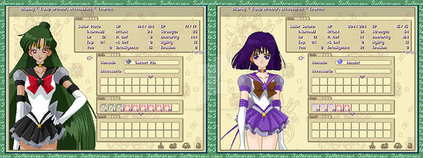 Equipment Menu for Sailor Pluto and Sailor Saturn