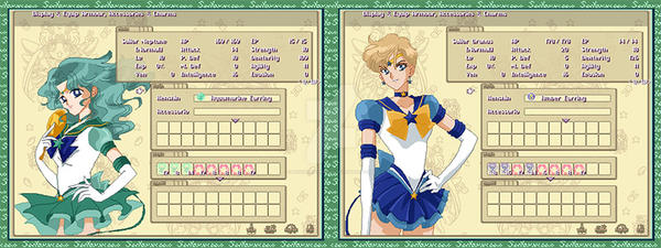 Equipment Menu for Sailor Neptune - Sailor Uranus