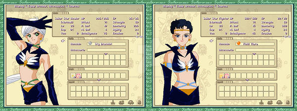 Equipment Menu for Sailor Star Healer / Fighter