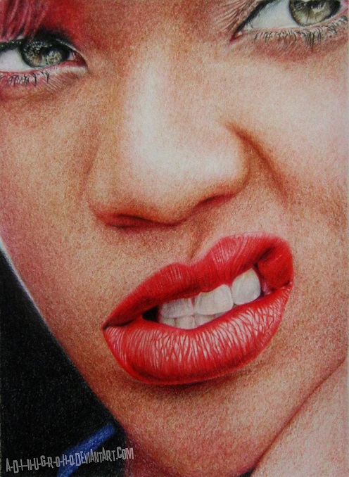 Rihanna RE-DRAW by A-D-I--N-U-G-R-O-H-O