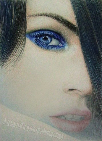 Megan Fox Blue Beauty by A-D-I--N-U-G-R-O-H-O