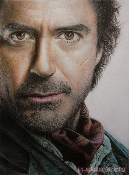 Robert DOWNEY Jr. Sherlock HOLMES by im-sorry-thx-all-bye