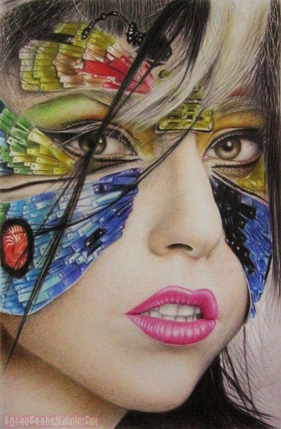 GaGaterfly Colored Pencil Version by A-D-I--N-U-G-R-O-H-O