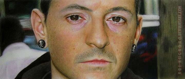 Chester Bennington COLOUR PENCIL VERSION by A-D-I--N-U-G-R-O-H-O
